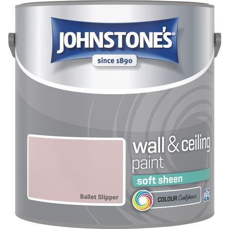 Johnstone's 2.5 Litre Soft Sheen Emulsion Paint - Ballet Slipper