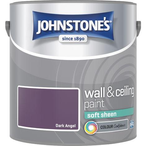 Johnstone's 2.5 Litre Soft Sheen Emulsion Paint - Dark Angel