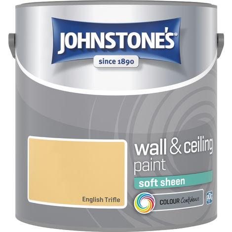 Johnstone's 2.5 Litre Soft Sheen Emulsion Paint - English Trifle