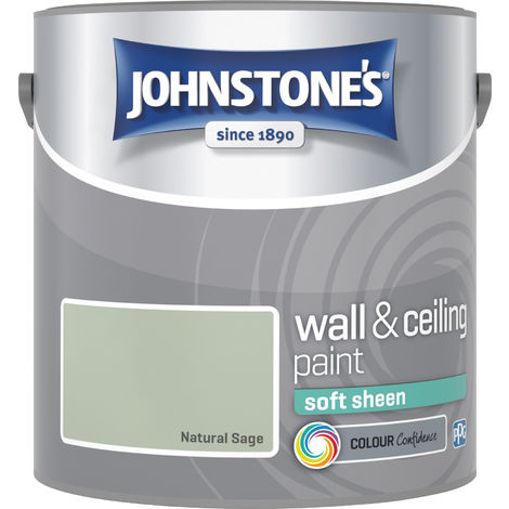 Johnstone's 2.5 Litre Soft Sheen Emulsion Paint - Natural Sage