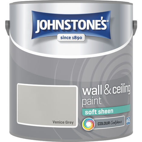 Johnstone's 2.5 Litre Soft Sheen Emulsion Paint - Venice Grey