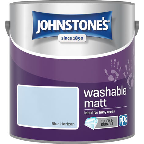 Johnstone's 2.5 Litre Washable Matt Emulsion Paint - Blue Horizon
