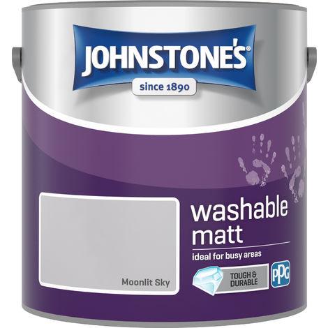 Johnstone's 2.5 Litre Washable Matt Emulsion Paint - Moonlit Sky