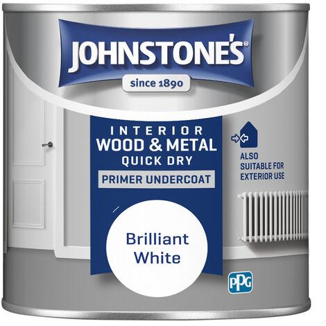 Johnstones 250ml Quick Dry Primer Undercoat - Brilliant White