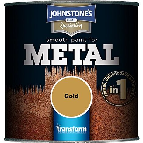 Johnstone's 250ml Smooth Paint For Metal - Gold