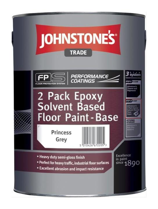 Dark Green Johnstone S 2pk Epoxy Solvent Based Floor Paint 4l 302420