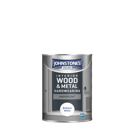 Johnstone's 303903 1.25 Litre All Purpose Undercoat Paint - Brilliant White