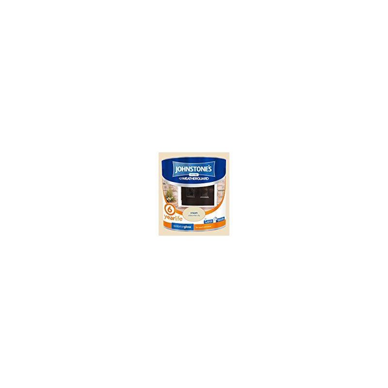 Image of 303943 2.5 Litre Exterior Gloss Paint - Cream - Johnstone's