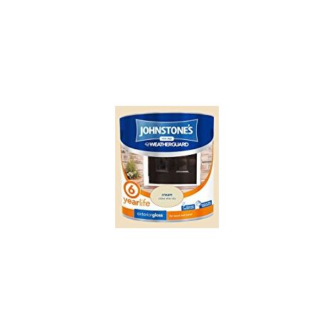 Johnstone's 303943 2.5 Litre Exterior Gloss Paint - Cream