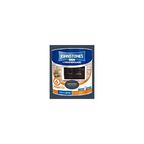 Johnstone's 303945 2.5 Litre Exterior Gloss Paint - Admiral Blue