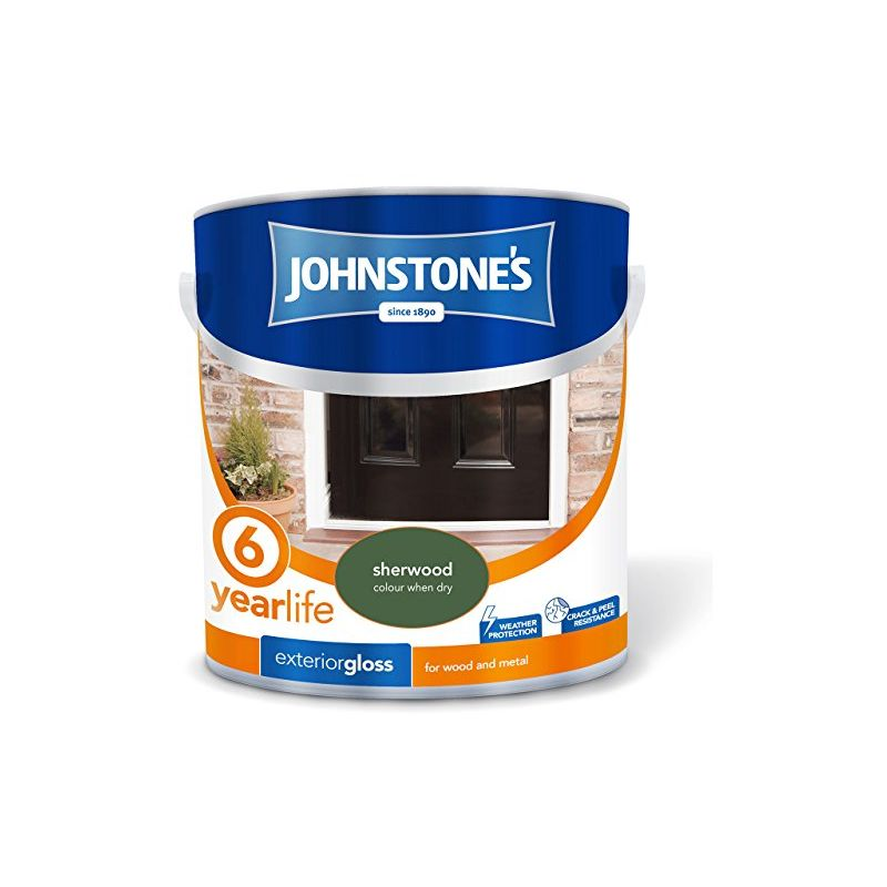 Image of 303946 2.5 Litre Exterior Gloss Paint - Sherwood - Johnstone's