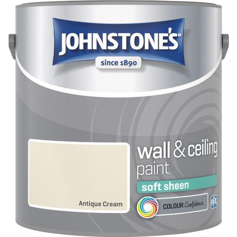 Johnstone's 303949 2.5 Litre Soft Sheen Emulsion Paint- Antique Cream