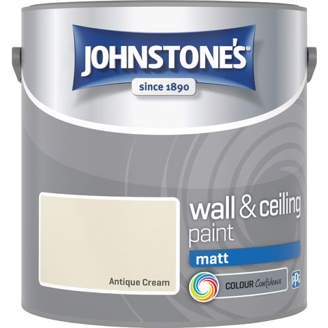 Johnstone's 304003 2.5 Litre Matt Emulsion Paint - Antique Cream