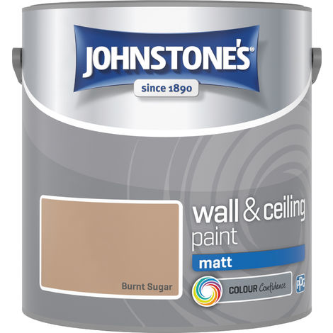 Johnstone's 304012 2.5 Litre Matt Emulsion Paint - Burnt Sugar