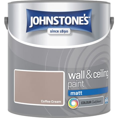 Johnstone's 304015 2.5 Litre Matt Emulsion Paint - Coffee Cream