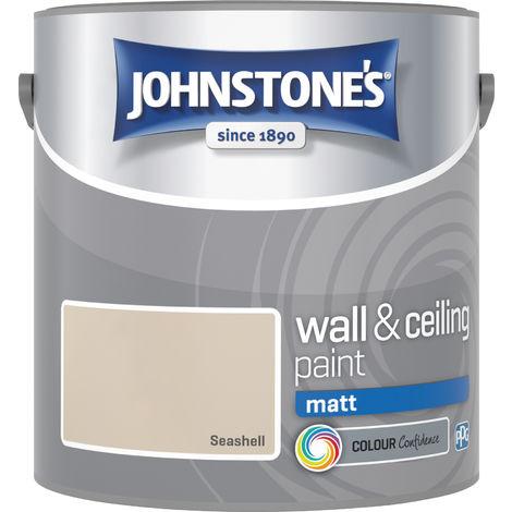 """main image of """"Johnstones Vinyl Matt Emulsion Seashell"""""""
