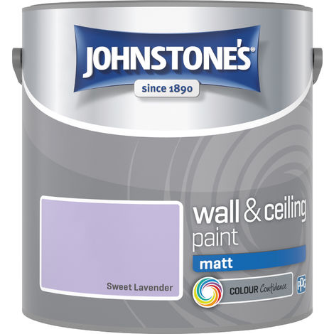 Johnstone's 304035 2.5 Litre Matt Emulsion Paint - Sweet Lavender