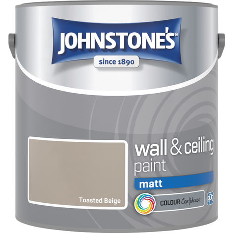 Johnstone's 304041 2.5 Litre Matt Emulsion Paint - Toasted Beige
