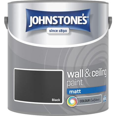 Johnstone's 304044 2.5 Litre Matt Emulsion Paint - Black
