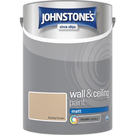 Johnstone's 304046 5 Litre Matt Emulsion Paint - Brandy Cream