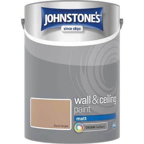 Johnstone's 304047 5 Litre Matt Emulsion Paint - Burnt Sugar