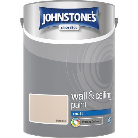 Johnstone's 304056 5 Litre Matt Emulsion Paint - Oatcake