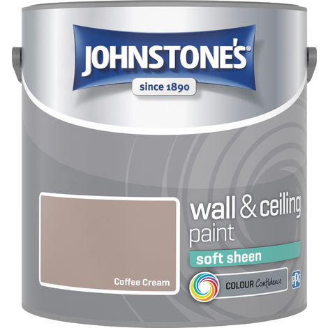 Johnstone's 304139 2.5 Litre Soft Sheen Emulsion Paint - Coffee Cream