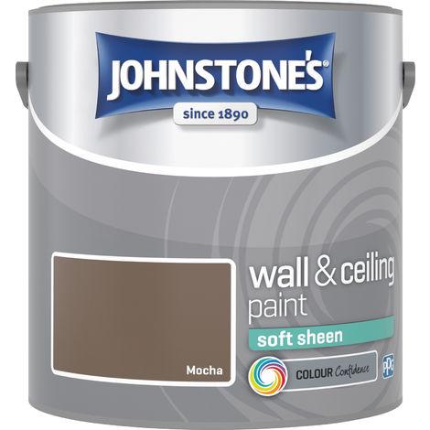 Johnstone's 304150 2.5 Litre Soft Sheen Emulsion Paint - Mocha