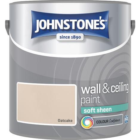 Johnstone's 304151 2.5 Litre Soft Sheen Emulsion Paint - Oatcake