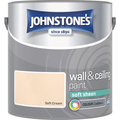 Johnstone's 304160 2.5 Litre Soft Sheen Emulsion Paint - Soft Cream