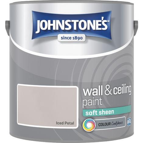 Johnstone's 304168 2.5 Litre Soft Sheen Emulsion Paint - Iced Petal