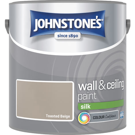 Johnstone's 304171 2.5 Litre Silk Emulsion Paint - Toasted Beige