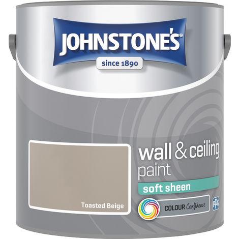 Johnstone's 304172 2.5 Litre Soft Sheen Emulsion Paint - Toasted Beige