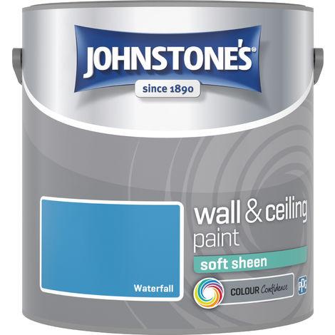 Johnstone's 304175 2.5 Litre Soft Sheen Emulsion Paint - Waterfall