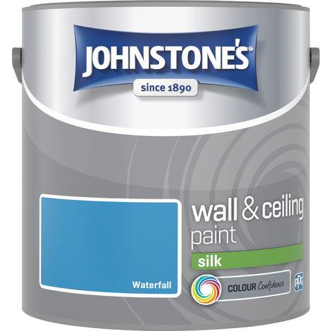 Johnstone's 304178 2.5 Litre Silk Emulsion Paint - Waterfall