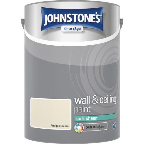 Johnstone's 304181 5 Litre Soft Sheen Emulsion Paint - Antique Cream