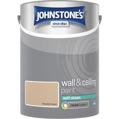 Johnstone's 304182 5 Litre Soft Sheen Emulsion Paint - Brandy Cream
