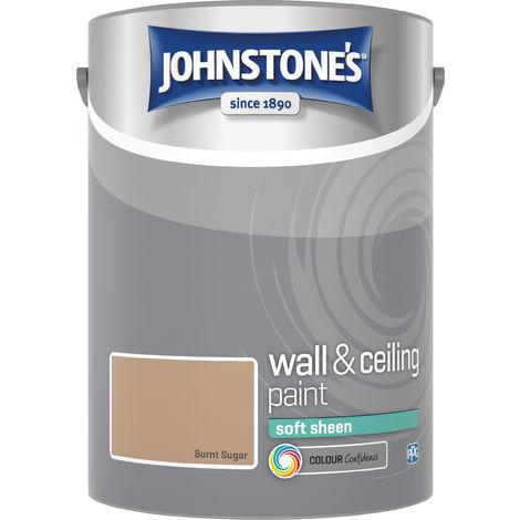 Johnstone's 304183 5 Litre Soft Sheen Emulsion Paint - Burnt Sugar