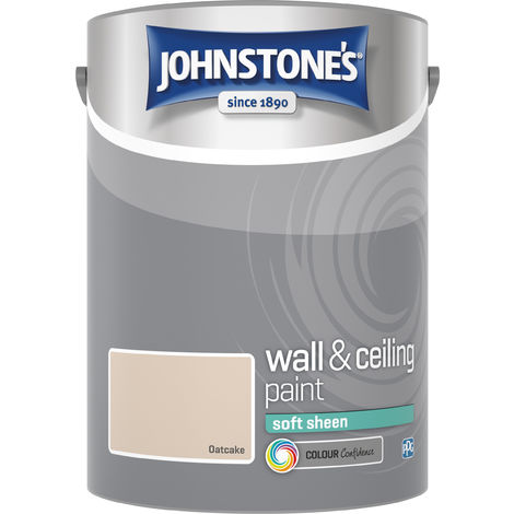 Johnstone's 304191 5 Litre Soft Sheen Emulsion Paint - Oatcake