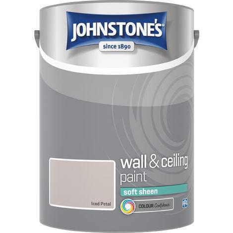 Johnstone's 304194 5 Litre Soft Sheen Emulsion Paint - Iced Petal