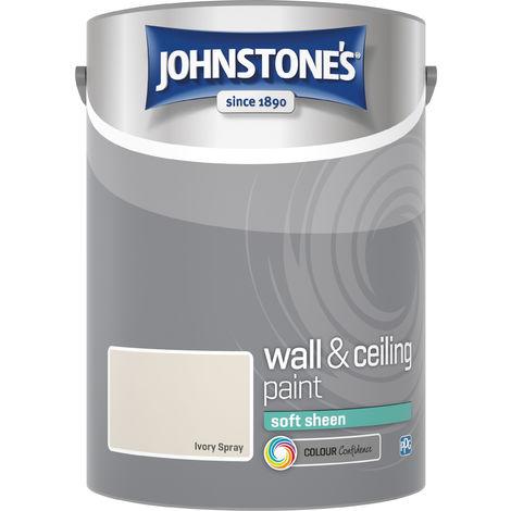 Johnstone's 304282 5 Litre Soft Sheen Emulsion Paint - Ivory Spray