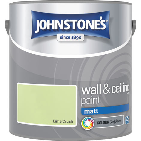 Johnstone's 305979 2.5 Litre Matt Emulsion Paint - Lime Crush