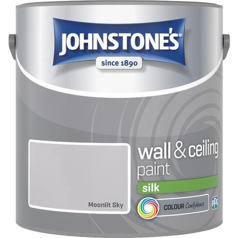 Johnstone's 305981 2.5 Litre Silk Emulsion Paint - Moonlit Sky