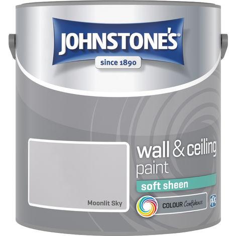 Johnstone's 305985 2.5 Litre Soft Sheen Emulsion - Moonlit Sky