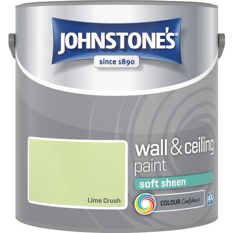 Johnstone's 305987 2.5 Litre Soft Sheen Emulsion Paint - Lime Crush
