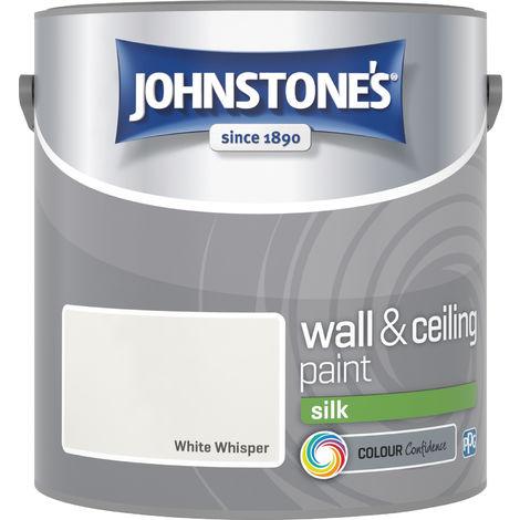 Johnstone's 306063 2.5 Litre Silk Emulsion Paint - White Whisper