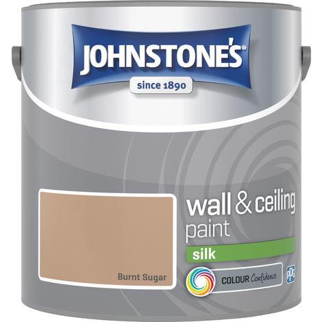 Johnstone's 306572 2.5 Litre Silk Emulsion Paint - Burnt Sugar