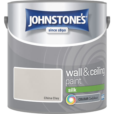 Johnstone's 306573 2.5 Litre Silk Emulsion Paint - China Clay