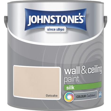 Johnstone's 306582 2.5 Litre Silk Emulsion Paint - Oatcake