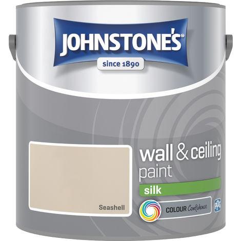 Johnstone's 306586 2.5 Litre Silk Emulsion Paint - Seashell